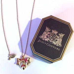 Juicy Couture Bow Tie and Heart Necklace